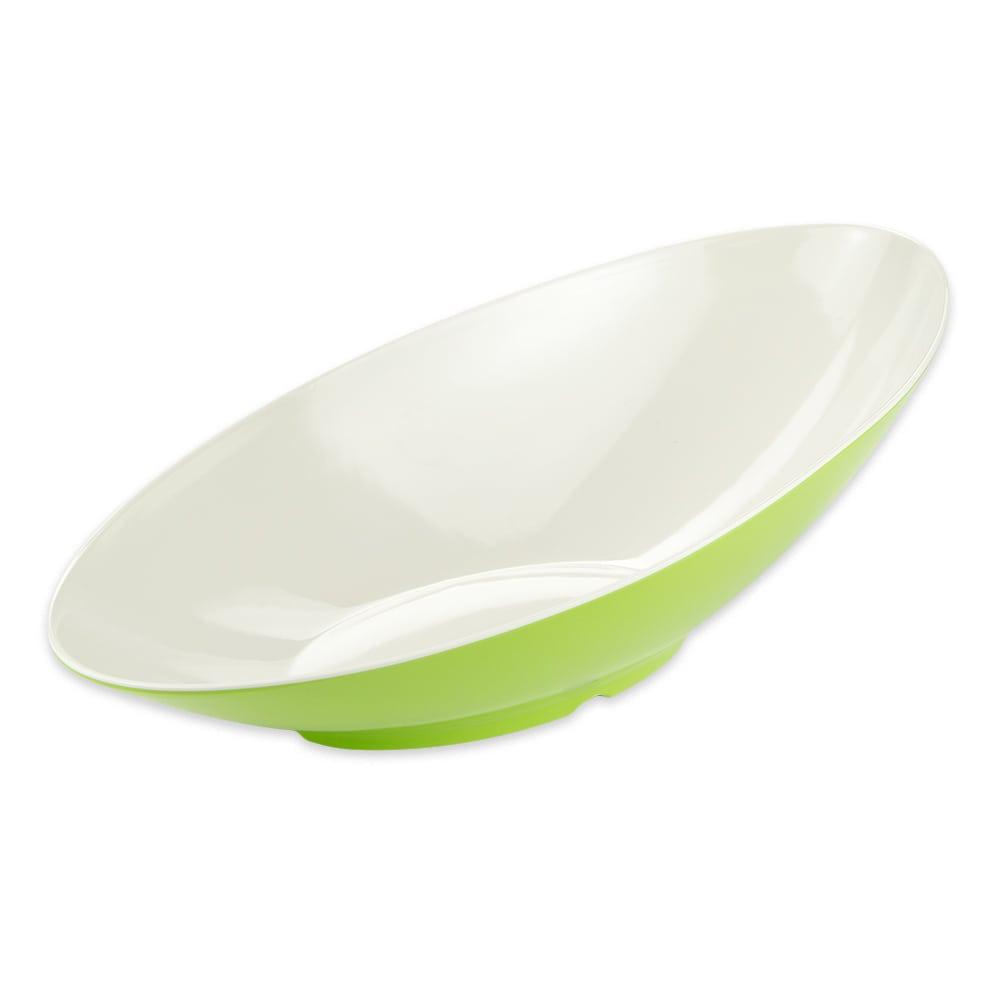 "GET B-798-KL Oval Fruit Bowl w/ 2.5-qt Capacity, 20"" x 10"" x 6"", Melamine, Green"