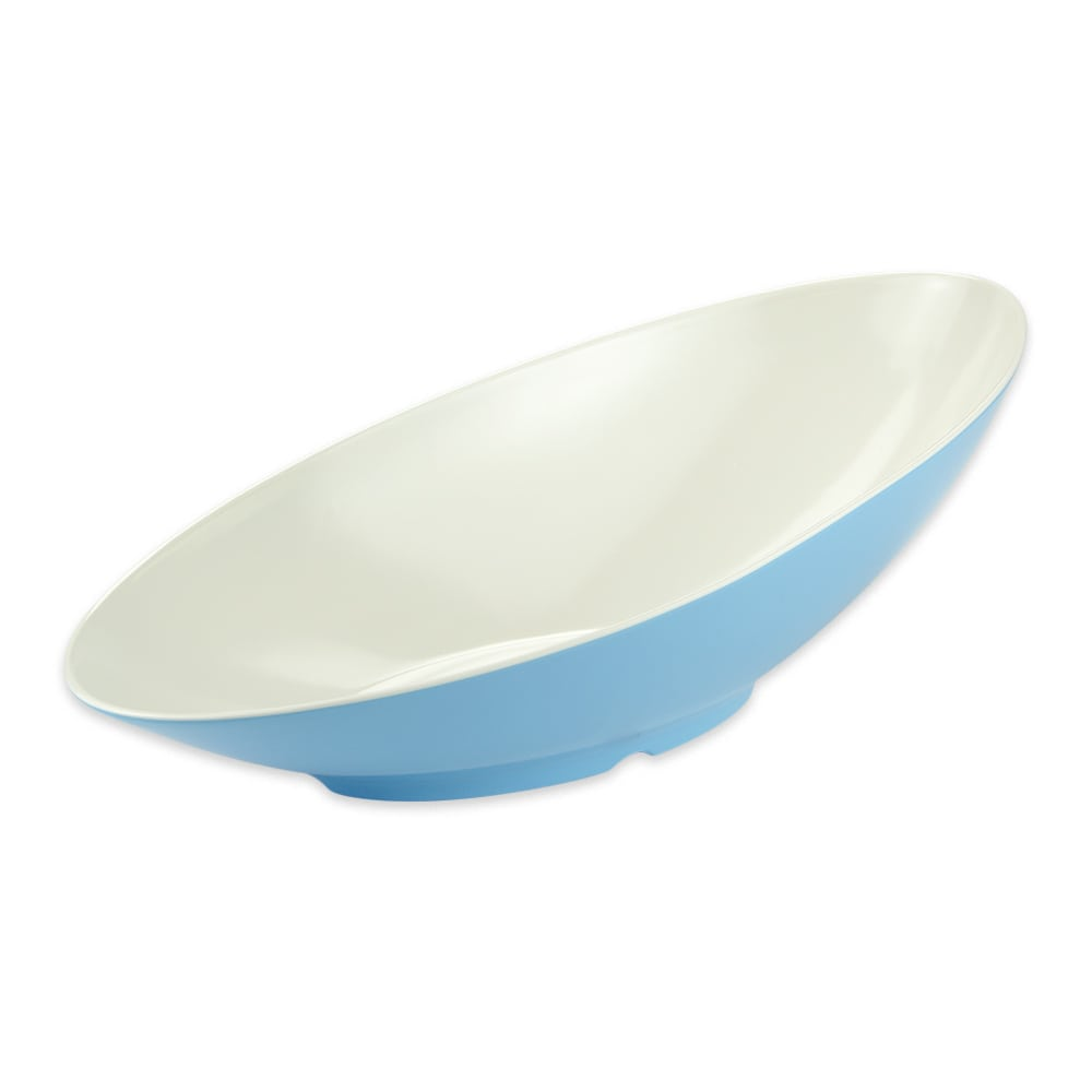 "GET B-798-SE Oval Fruit Bowl w/ 2.5-qt Capacity, 20"" x 10"" x 6"", Melamine, Blue"