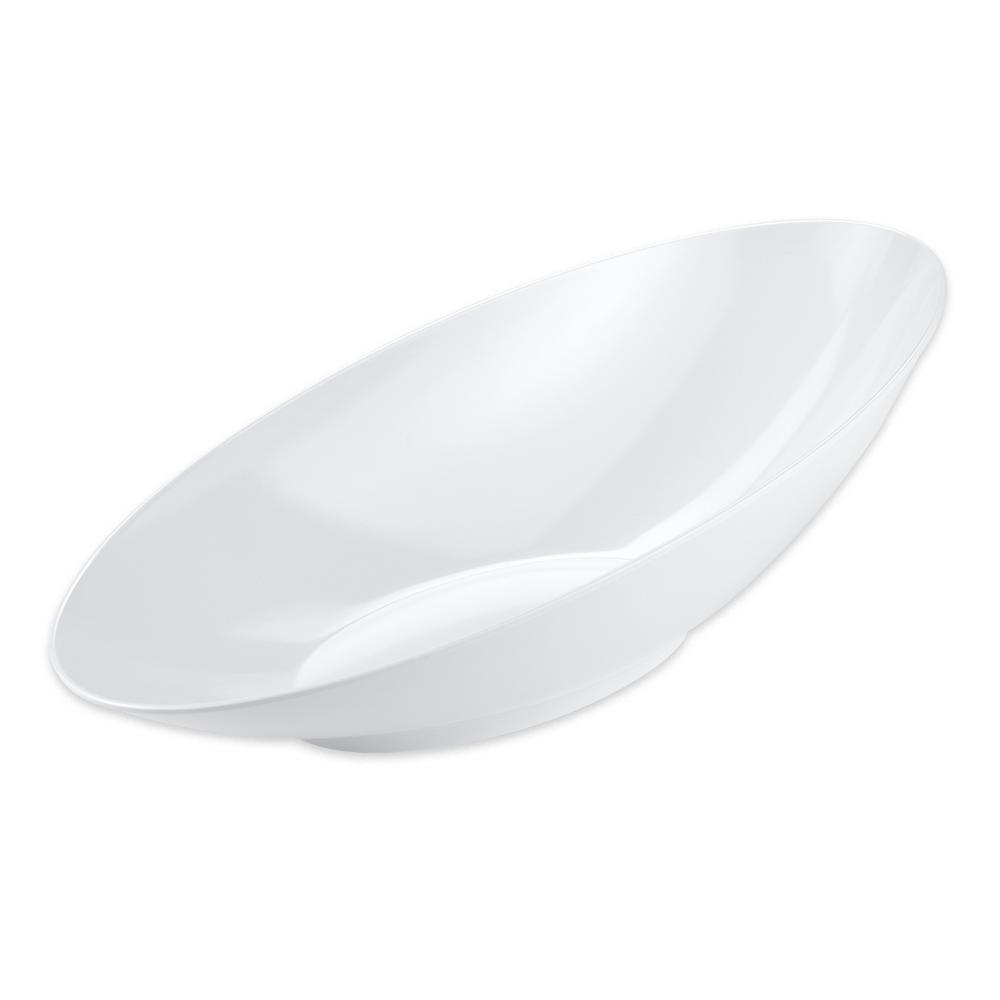 """GET B-798-W Oval Fruit Bowl w/ 2.5 qt Capacity, 20"""" x 10"""" x 6"""", Melamine, White"""