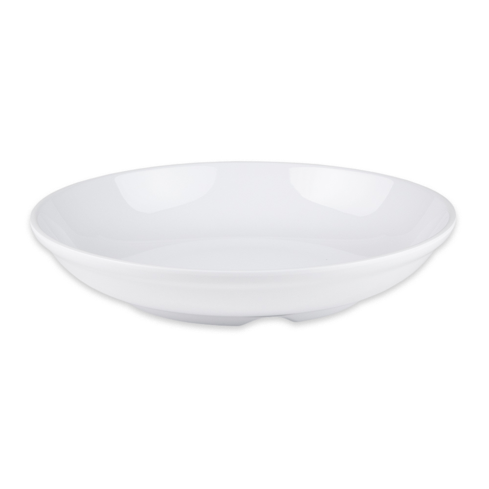 "GET B-925-DW 9"" Round Pasta Bowl w/ 1.1 qt Capacity, Melamine, White"