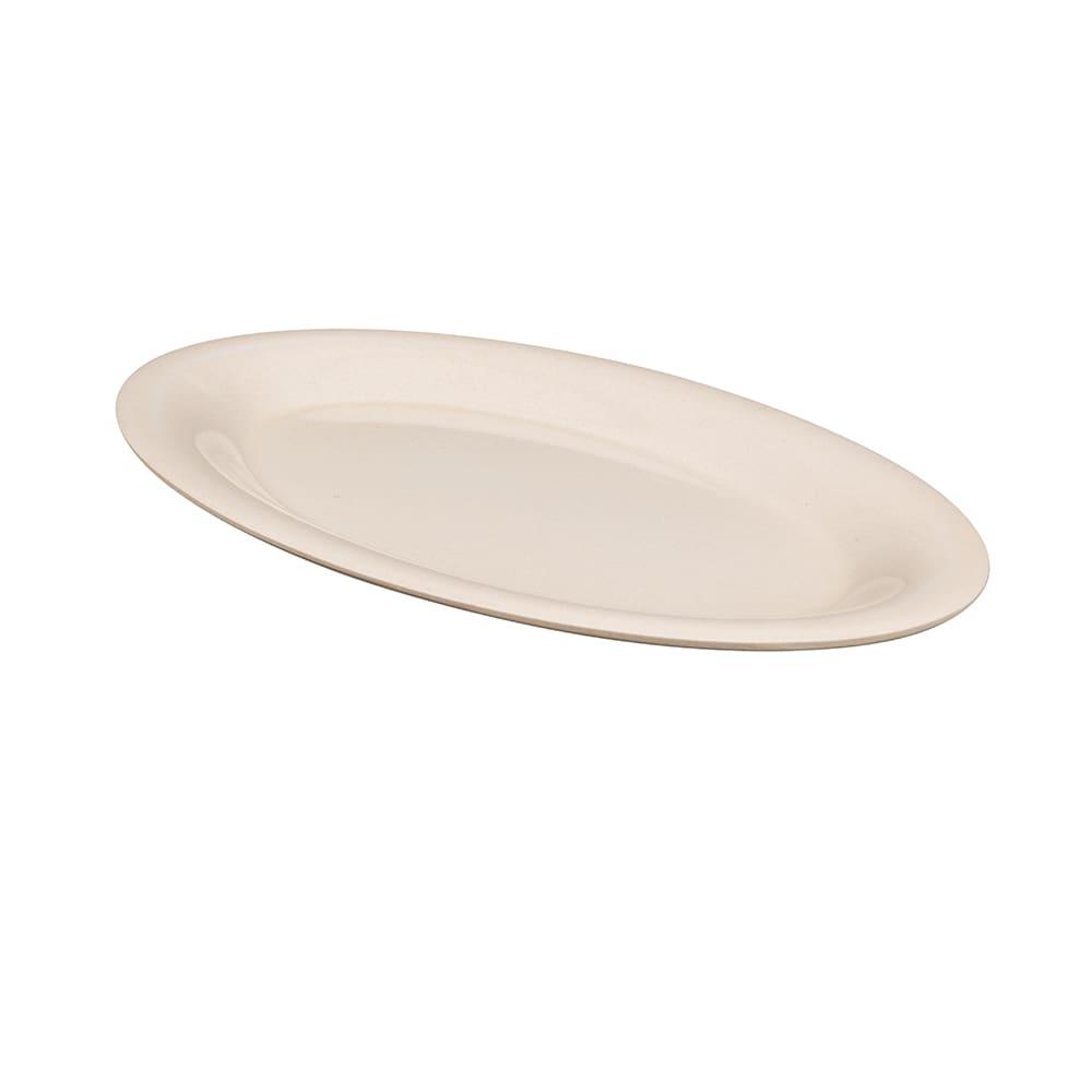 """GET BAM-1201 Oval Serving Platter, 12"""" x 9"""", Melamine, Beige"""
