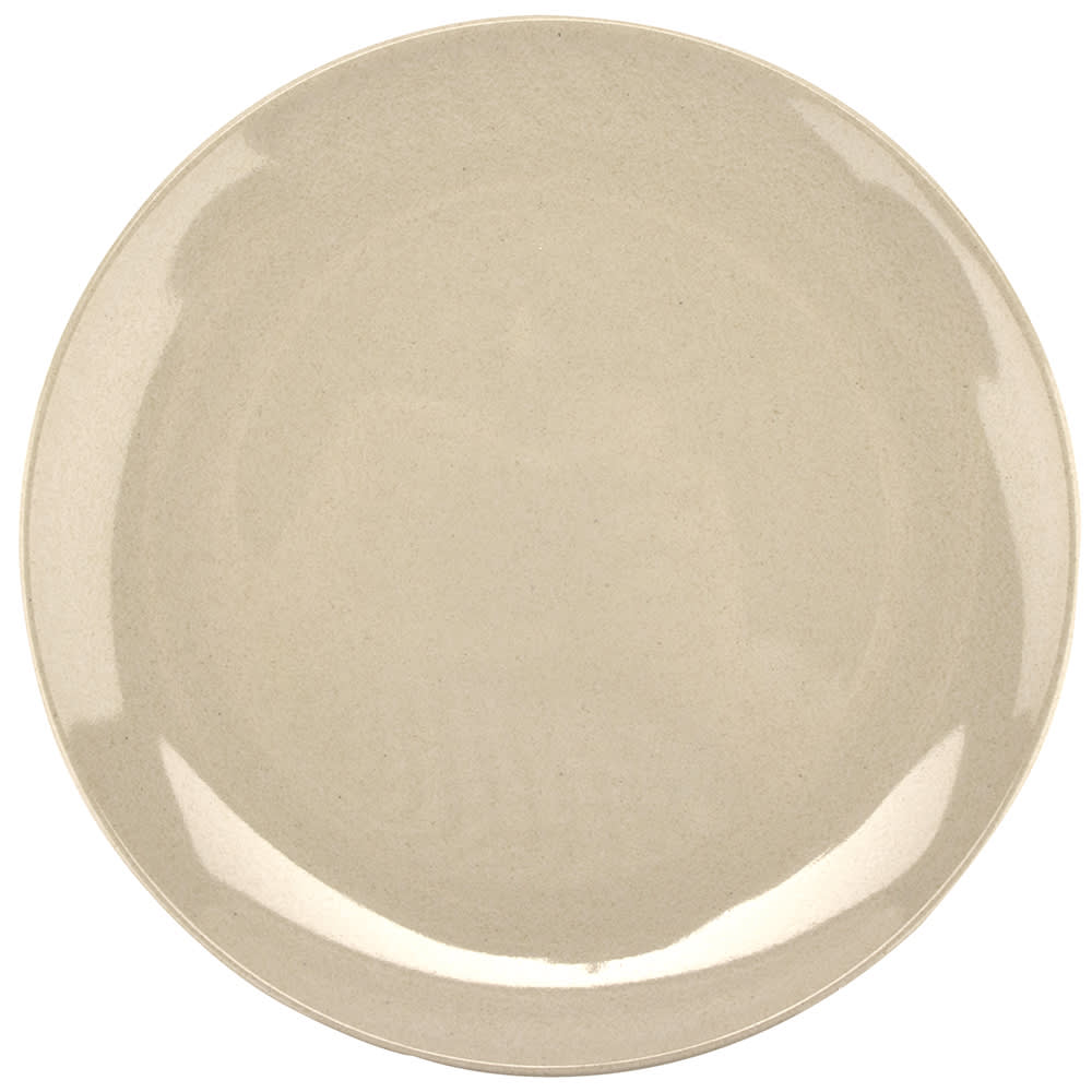 """GET BAM-12075 10.5"""" Round Dinner Plate, Melamine, Beige"""
