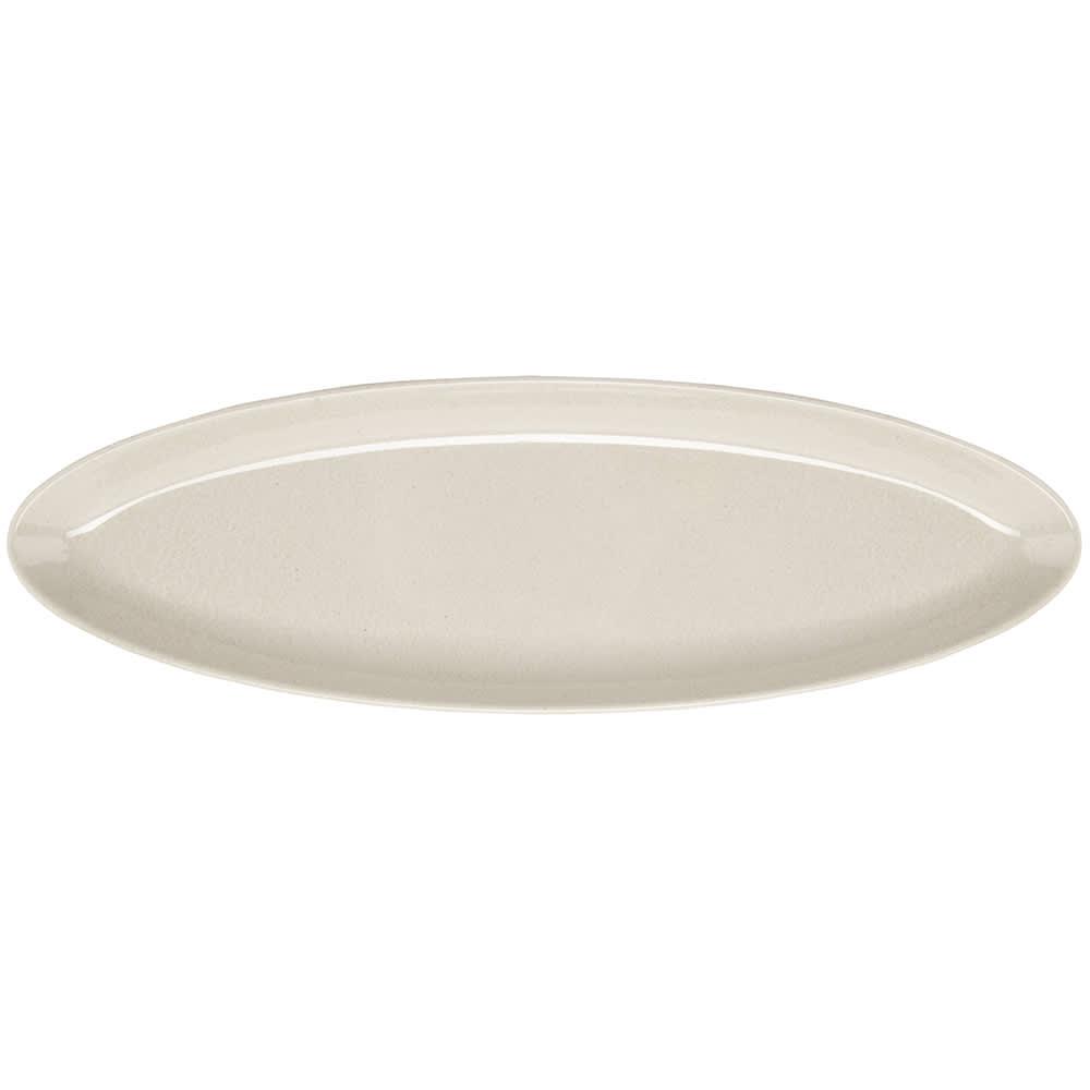 "GET BAM-1252 Oval Serving Platter w/ 20 oz Capacity, 16"" x 5"", Melamine, Beige"