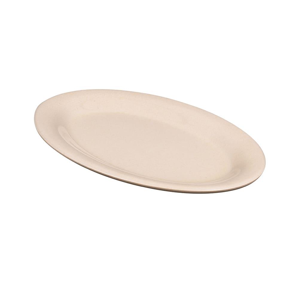 """GET BAM-1950 Oval Serving Platter, 9.75"""" x 7.25"""", Melamine, Beige"""