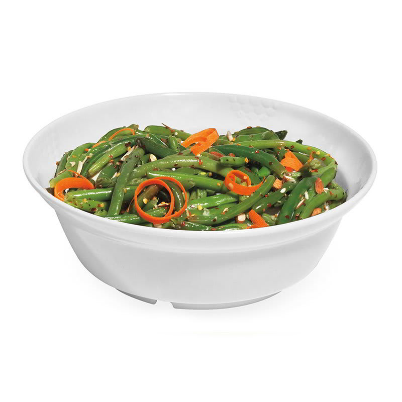 "GET BB-105-3-W 10.5"" Round Serving Bowl w/ 3-qt Capacity, Melamine, White"