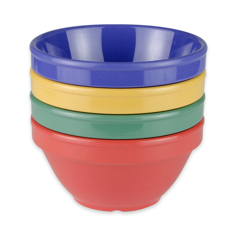 "GET BC-170-MIX (4) 4.5"" Round Bouillon Cup w/ 8-oz Capacity, Melamine, Multi-Colored"