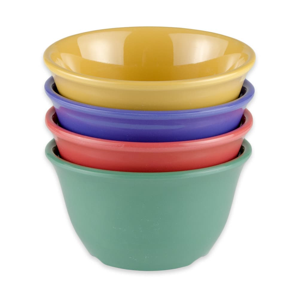 "GET BC-70-MIX 4"" Round Bouillon Cups w/ 7-oz Capacity, Melamine, Multi-Colored"