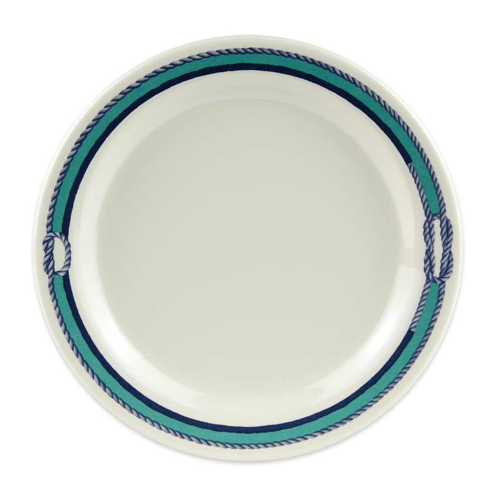 """GET BF-010-FP 10"""" Round Dinner Plate, Melamine, White"""