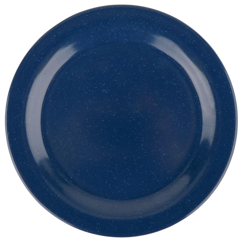 "GET BF-010-TB 10"" Round Dinner Plate, Melamine, Blue"
