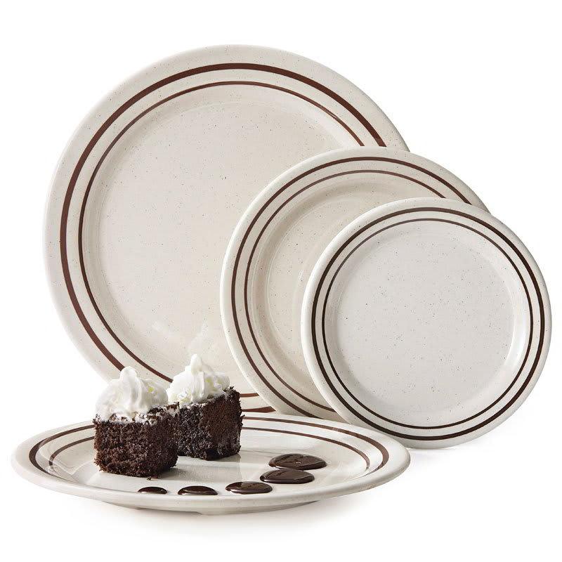 "GET BF-010-U 10"" Round Dinner Plate, Melamine, White"