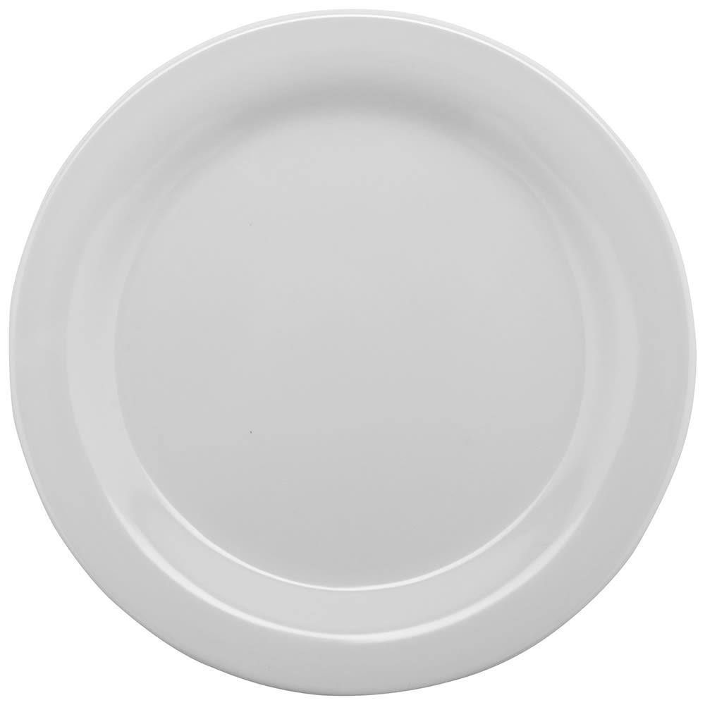 """GET BF-010-W 10"""" Round Dinner Plate, Melamine, White"""