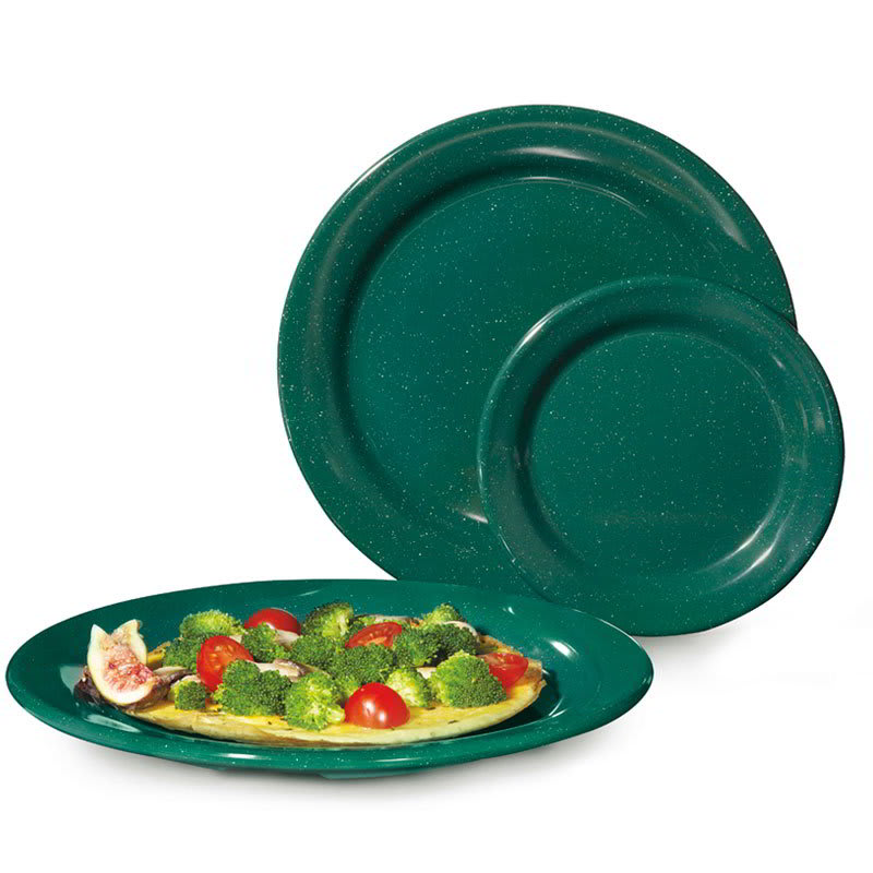 "GET BF-090-KG 9"" Round Dinner Plate, Melamine, Green"