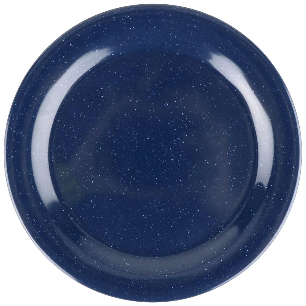 "GET BF-090-TB 9"" Round Dinner Plate, Melamine, Blue"