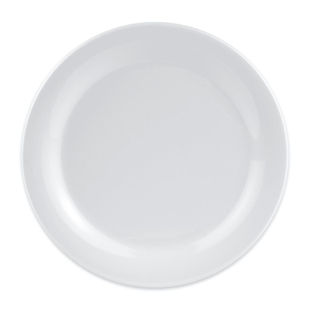 """GET BF-090-W 9"""" Round Dinner Plate, Melamine, White"""