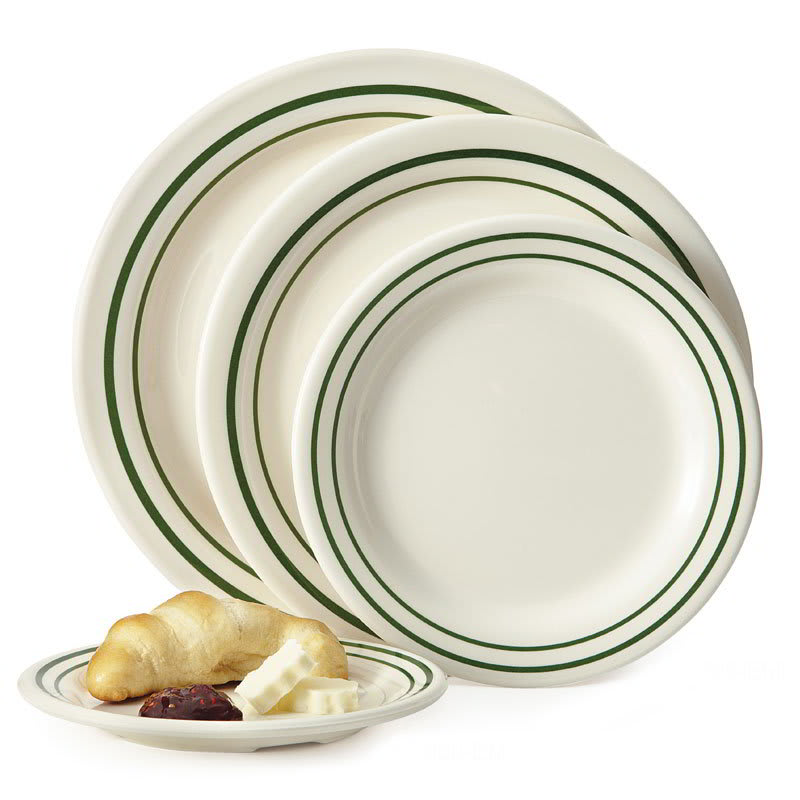 "GET BF-700-EM 7.5"" Round Dessert Plate, Melamine, White"