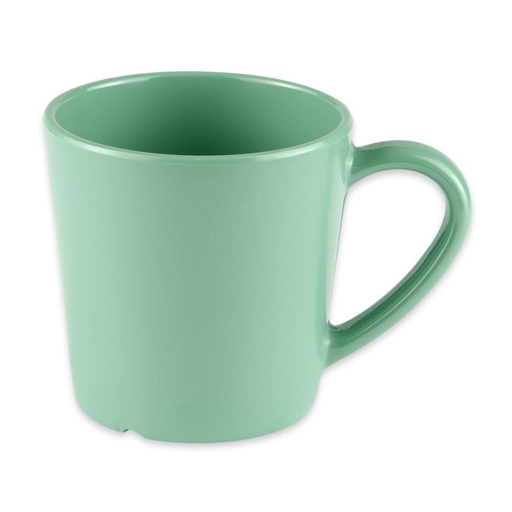 GET C-107-FG 8 oz Coffee Cup, Melamine, Green