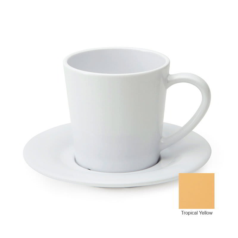 GET C-107-TY 8-oz Coffee Cup, Melamine, Yellow