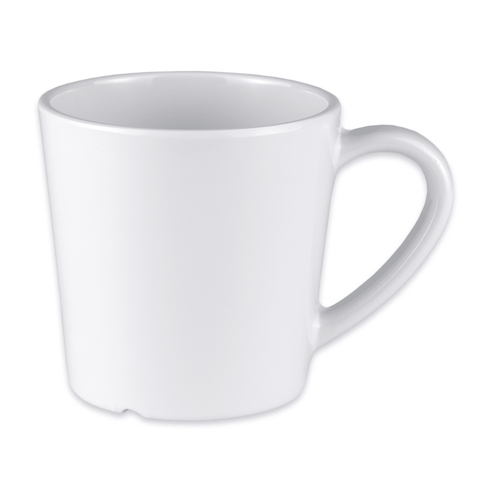 GET C-107-W 8 oz Coffee Cup, Melamine, White