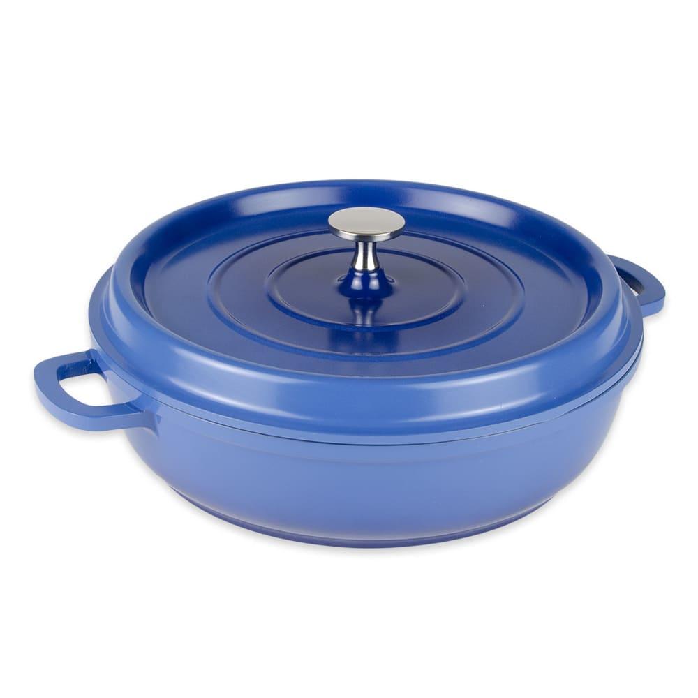 GET CA-005-CB/BK 3-qt Induction Braising Pot - Aluminum w/ Ceramic Coating, Cobalt Blue