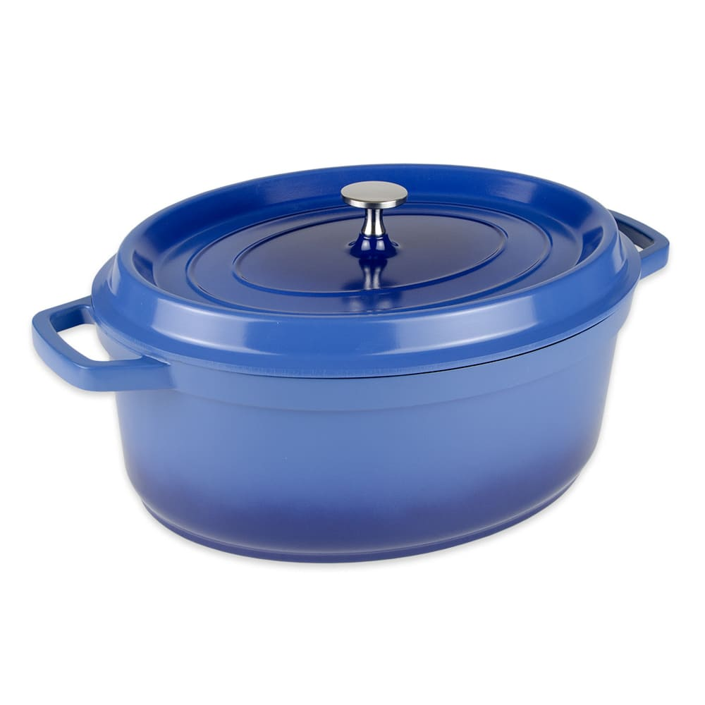 GET CA-007-CB/BK 6.5 qt Induction Dutch Oven - Aluminum w/ Ceramic Coating, Cobalt Blue