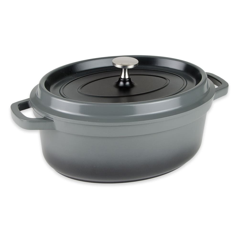 GET CA-009-GR/BK 3.5-qt Induction Dutch Oven - Aluminum w/ Ceramic Coating, Gray
