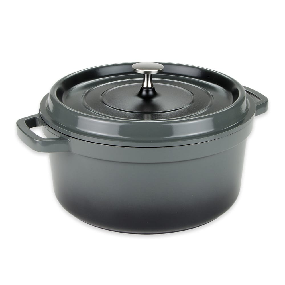 GET CA-012-GR/BK 4.5 qt Induction Dutch Oven - Aluminum w/ Ceramic Coating, Gray