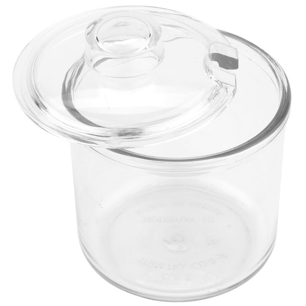 GET CD-8-2-CL 8 oz Plastic Condiment Jar & Cover, Clear Plastic