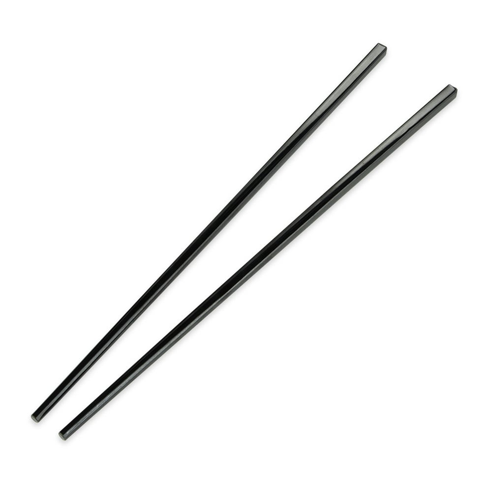 "GET CHOPSTICKS-BK 10.75"" Chopsticks, Plastic, Black"