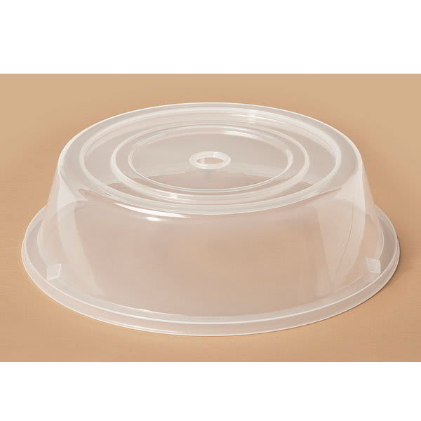 "GET CO-101-CL Cover For 10.6"" To 11.4"" Round Plates, Clear Polypropylene"