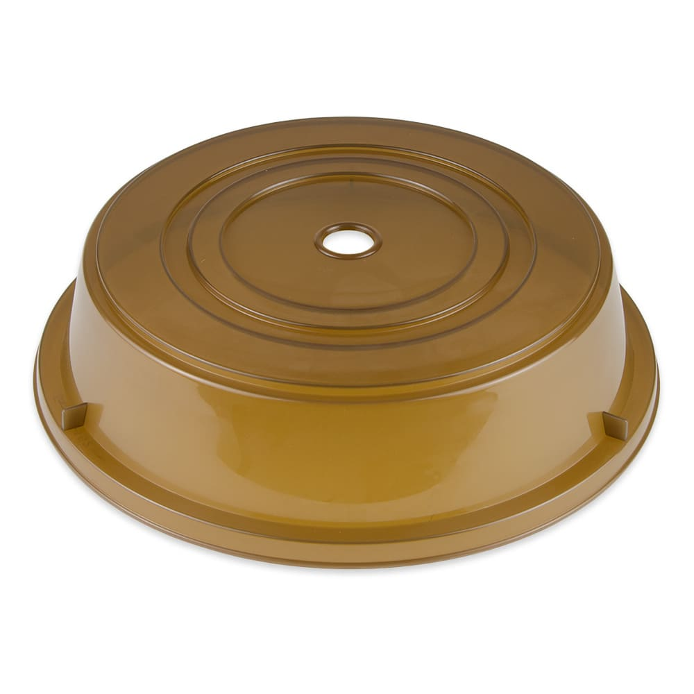 "GET CO-102-A Cover For 11.25"" To 12"" Round Plates, Amber Polypropylene"