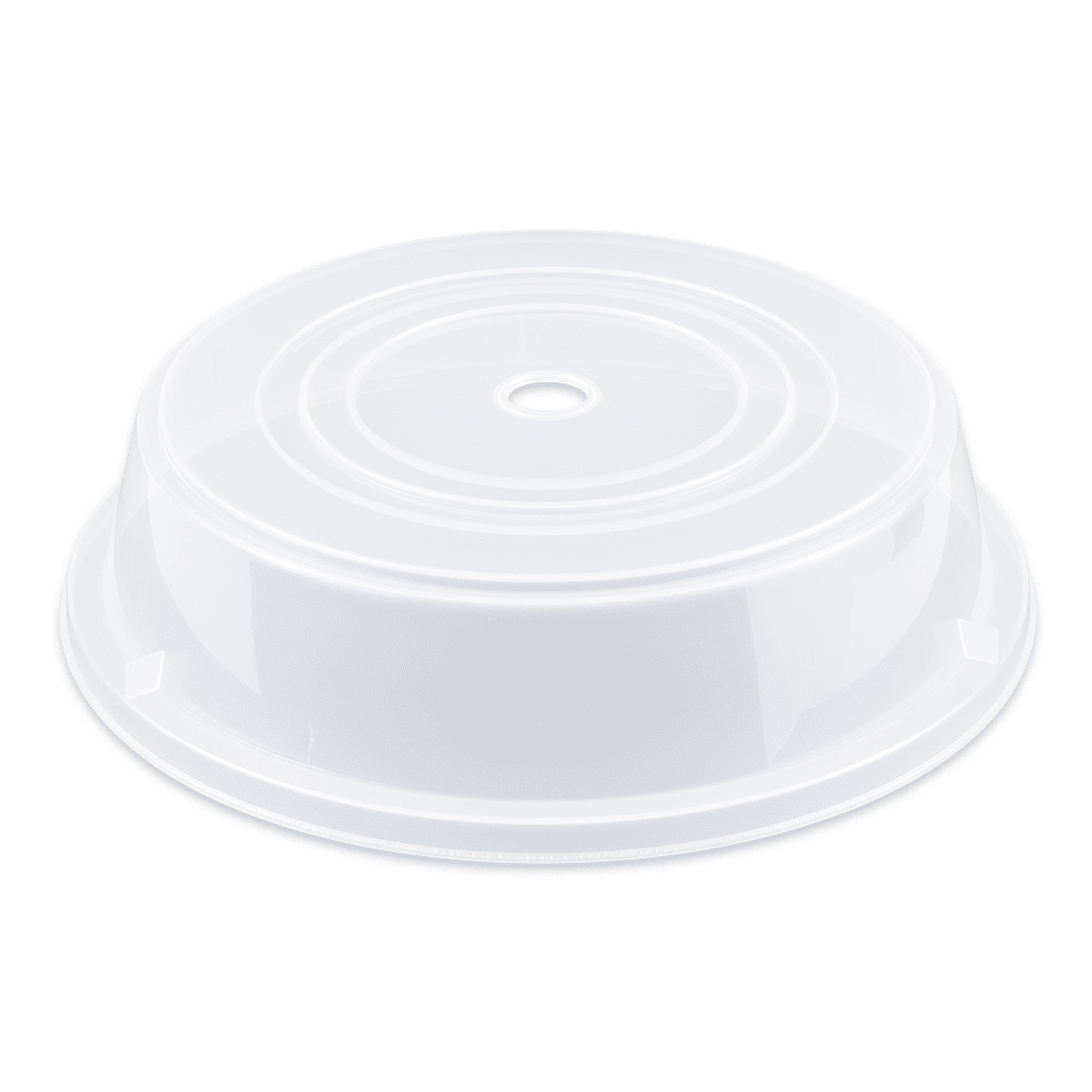 "GET CO-102-CL Cover For 11.25"" To 12"" Round Plates, Clear Polypropylene"