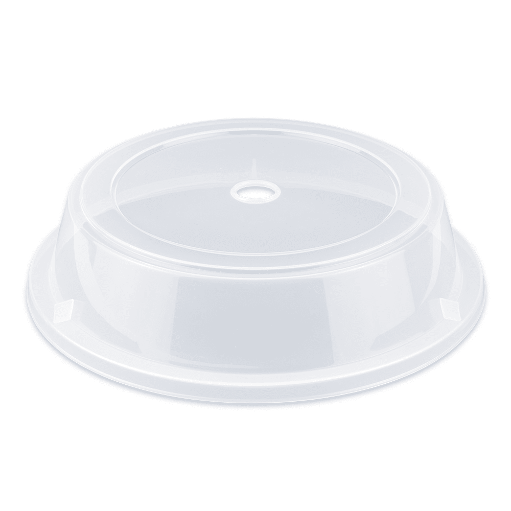 """GET CO-103-CL Cover For 10.75"""" To 11.8"""" Round Plates, Clear Polypropylene"""