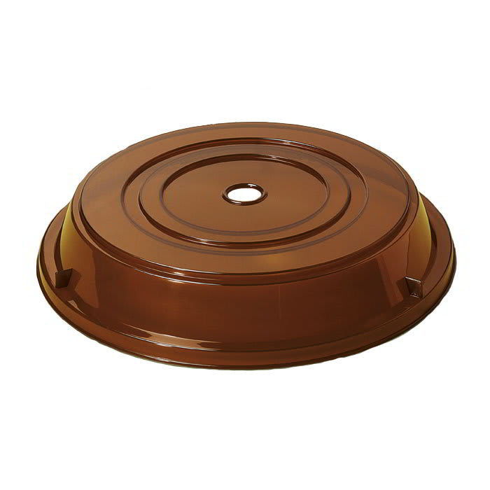 "GET CO-105-A Cover For 11.25"" To 12.13"" Round Plates, Amber Polypropylene"