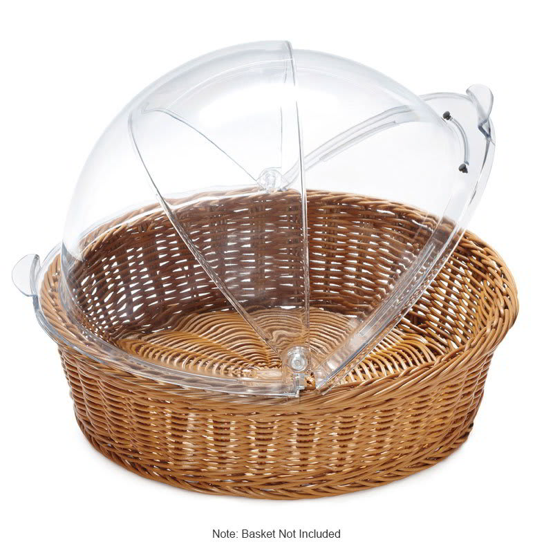 "GET CO-2098-CL 16.25"" Round Basket Cover Only for WB-1551, Polycarbonate, Clear"