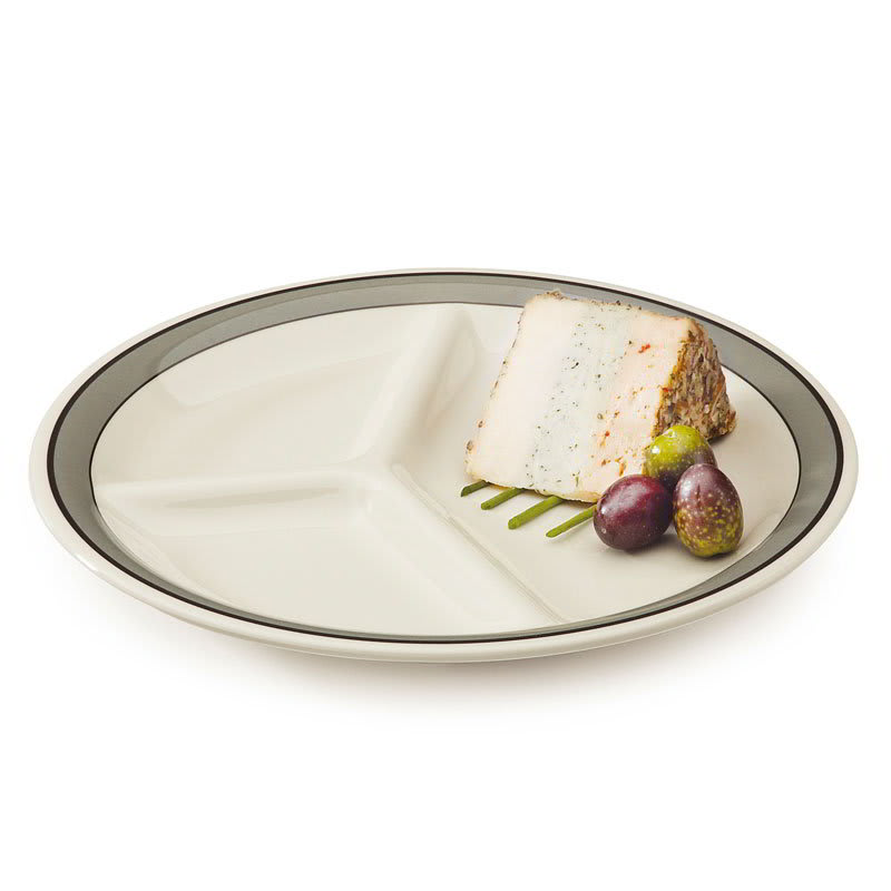 "GET CP-10-CA 10.25"" Round Dinner Plate w/ (3) Compartments, Melamine, White"
