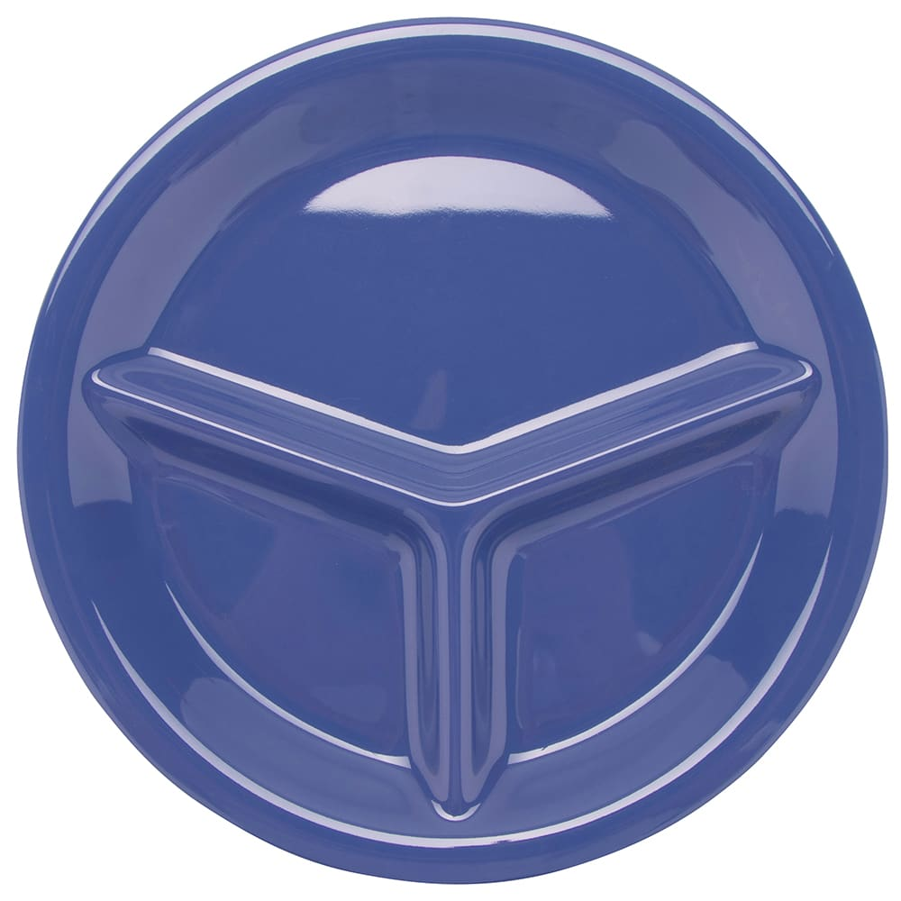 """GET CP-10-PB 10.25"""" Round Dinner Plate w/ (3) Compartments, Melamine, Blue"""