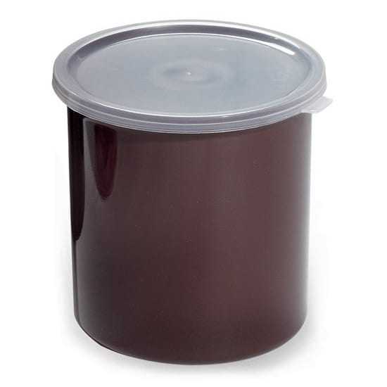 GET CR-0120-RB 1.2-qt Salad Crock w/ Lid, Plastic, Brown