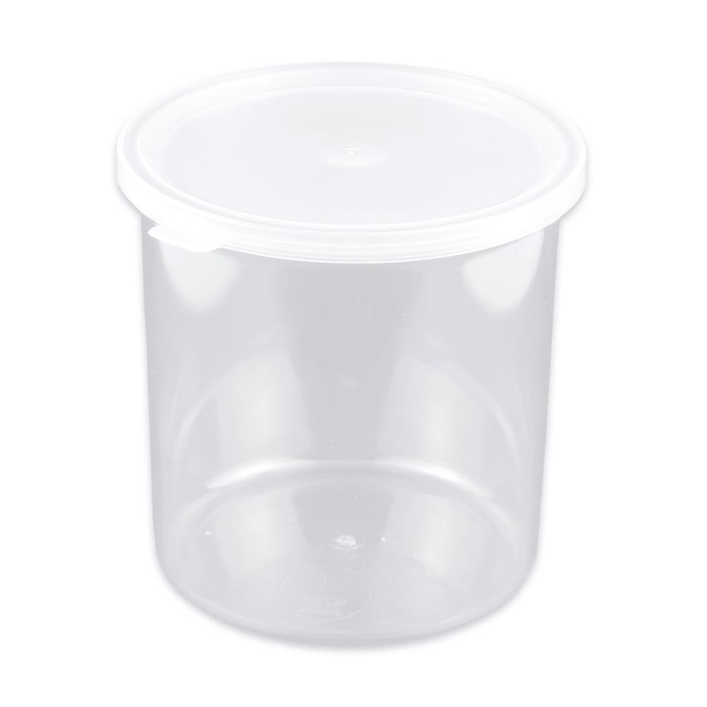 GET CR-0120-CL 1.2-qt Salad Crock w/Lid, Plastic, Clear