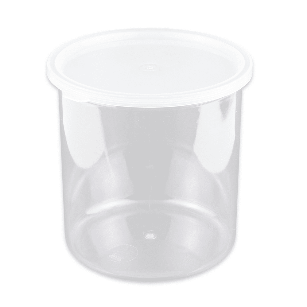 GET CR-0270-CL 2.7-qt Salad Crock w/ Lid, SAN, Clear Plastic