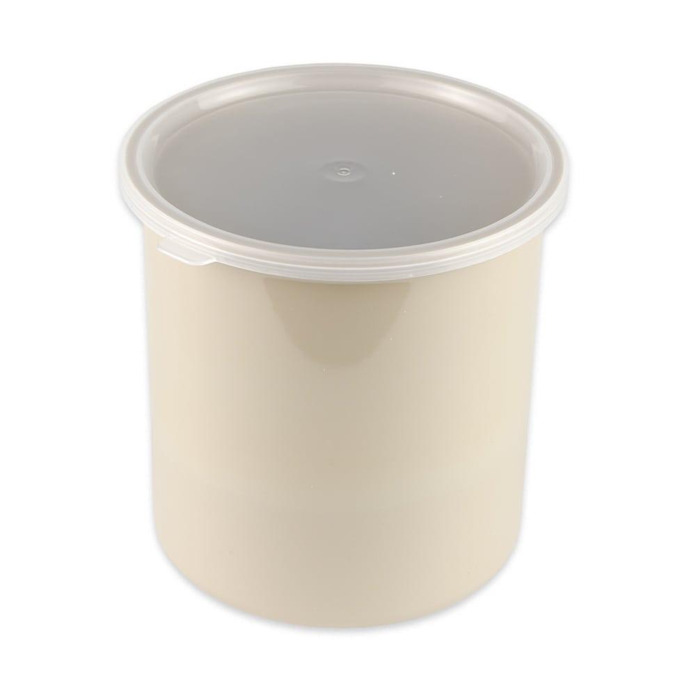 GET CR-0270-T 2.7-qt Salad Crock w/ Lid, Plastic, Tan