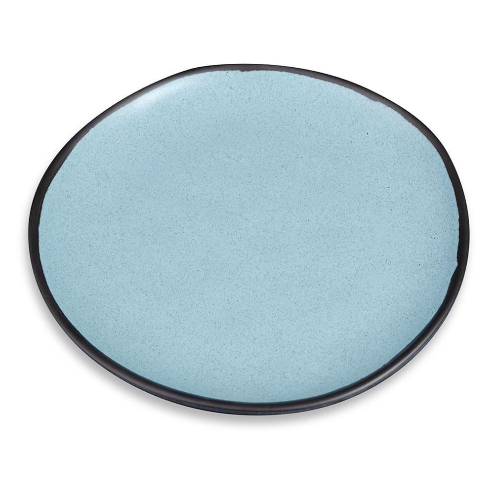 "GET CS-100-GBL 10.5"" Pottery Market™ Dinner Plate - Melamine, Speckled Grayish Blue"