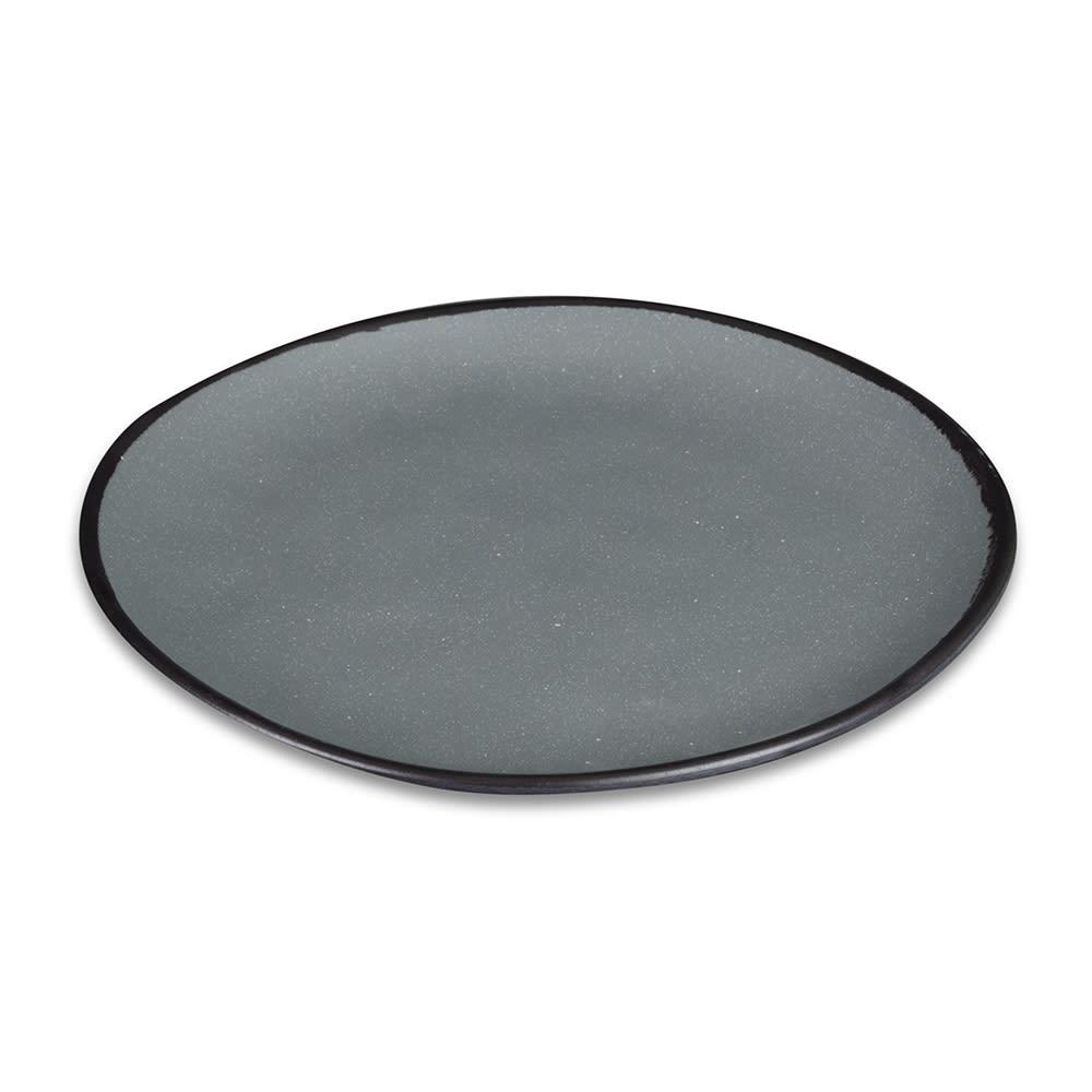 """GET CS-100-GR 10.5"""" Pottery Market™ Dinner Plate - Melamine, Speckled Gray"""