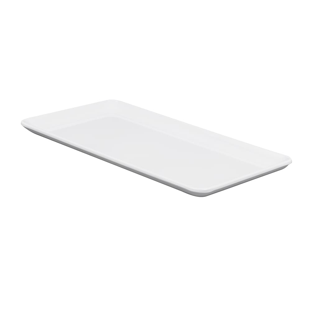 "GET CS-1156-W Rectangular Serving Platter, 11.5"" x 6"", Melamine, White"