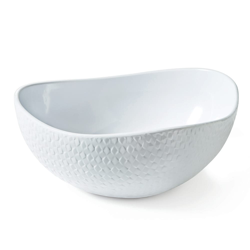 "GET CS-1198-CN-W 11.75"" Triangular Fruit Bowl w/ 4-qt Capacity, Melamine, White"