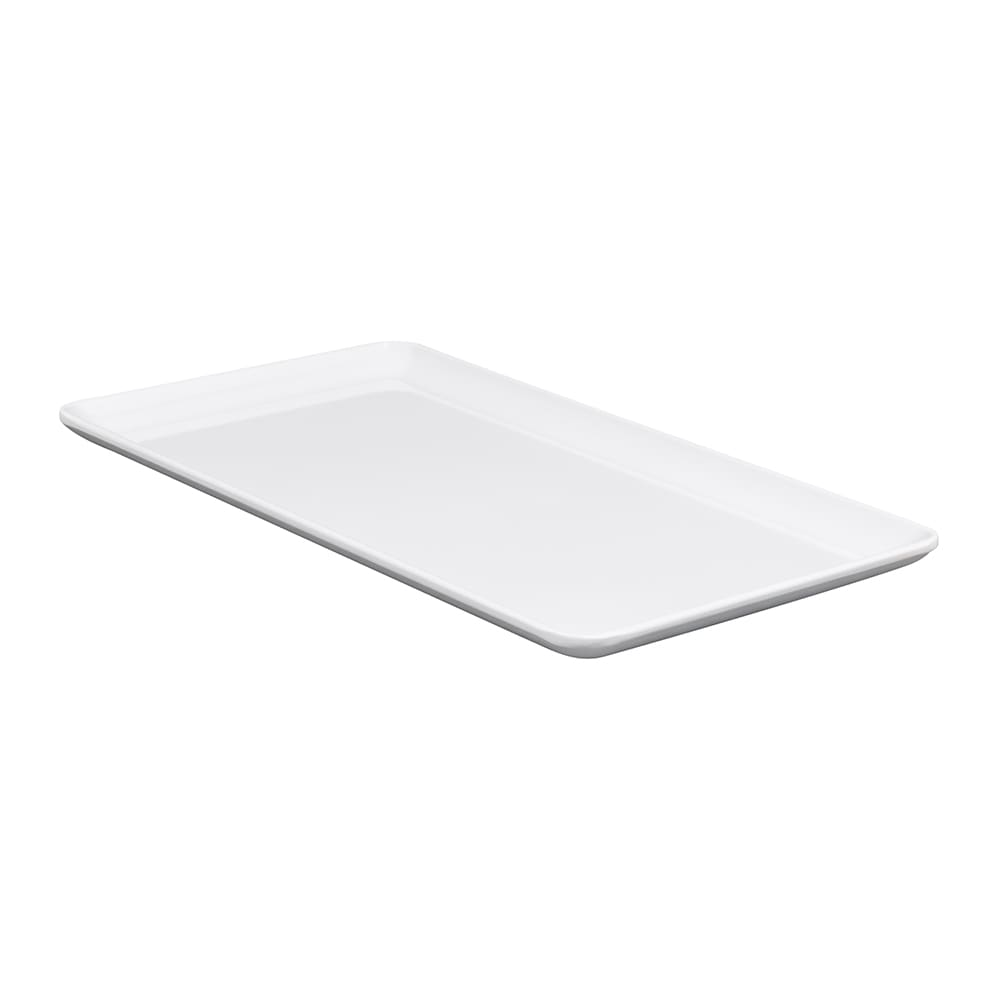 "GET CS-1257-W Rectangular Serving Platter, 12.5"" x 7"", Melamine, White"