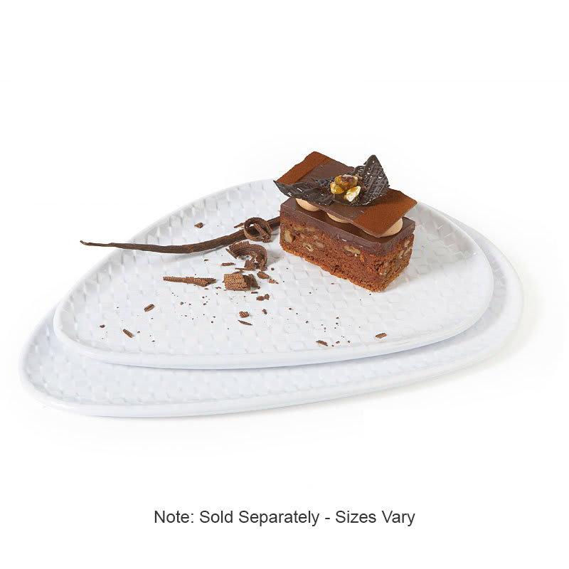 """GET CS-1259-CN-W 12.5"""" Triangular Dessert Plate, Melamine, White"""