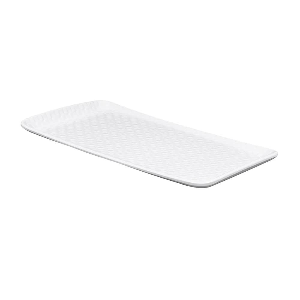 """GET CS-1270-CN-W Rectangular Serving Platter, 12"""" x 7"""", Melamine, White"""