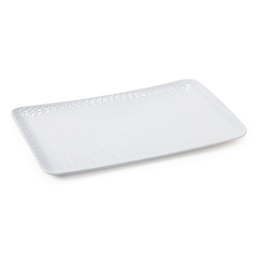 "GET CS-1811-CN-W Rectangular Serving Platter, 18"" x 11"", Melamine, White"