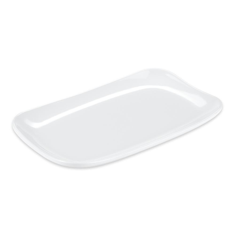 """GET CS-6104-W Rectangular Serving Platter, 9.75"""" X 5.8"""", Melamine, White"""