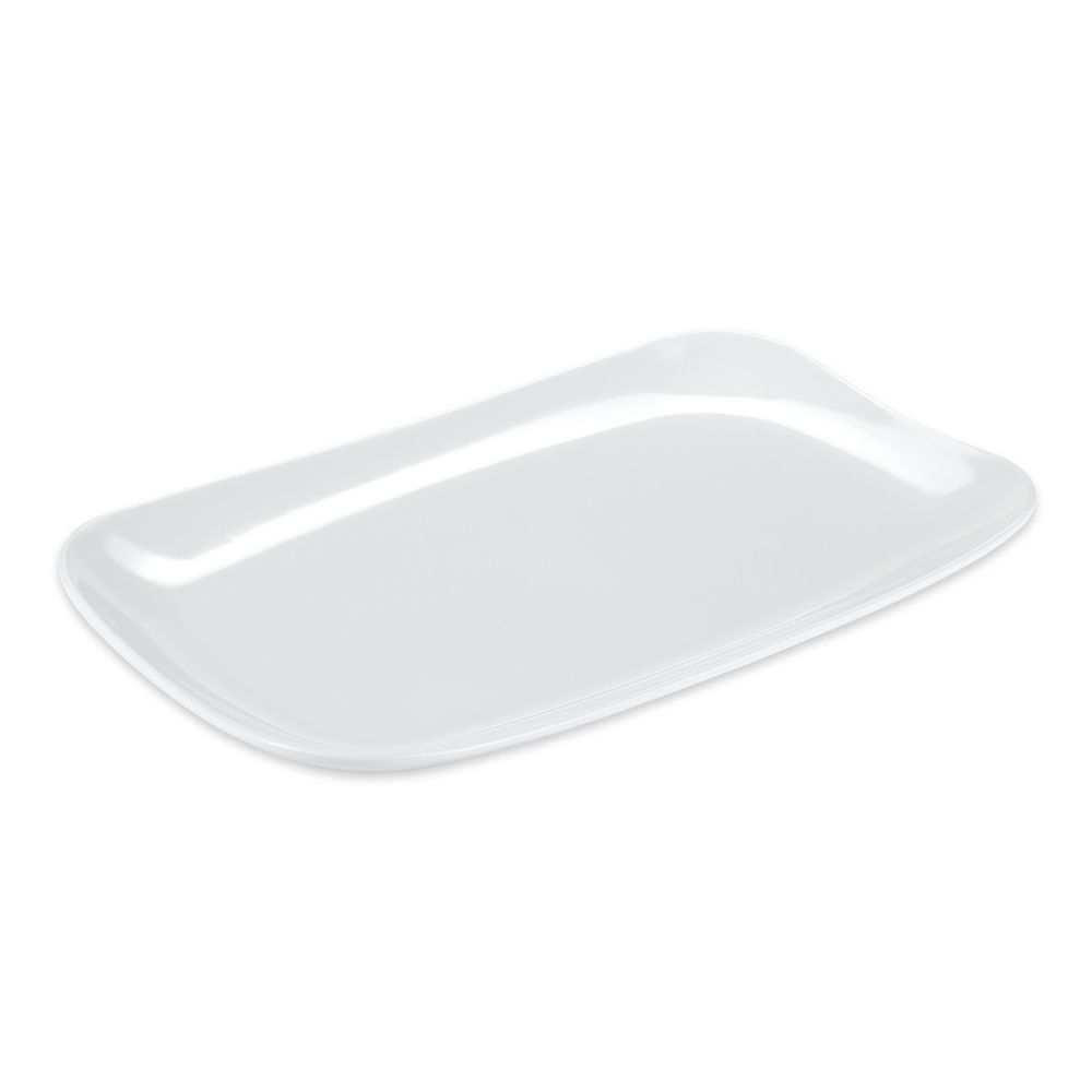 "GET CS-6105-W Rectangular Serving Platter, 13"" x 7.8"", Melamine, White"